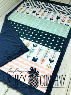 Brier Wholecloth MInky Baby Blanket by TheDesignerMinkyCo on Etsy