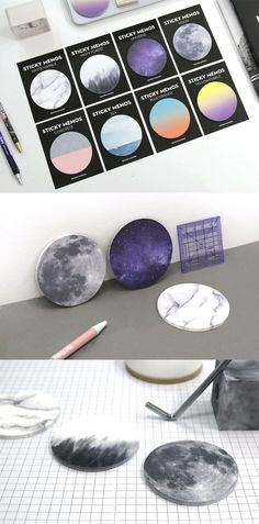 Planet sticky notes. Write a short message for loved ones on the Galaxy!