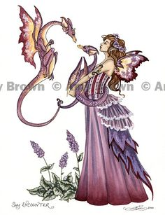 Fairy Art Artist Amy Brown: The Official Online Gallery. Fantasy Art, Faery Art, Dragons, and Magical Things Await. Fantasy Dragon, Fantasy Art, Fantasy Creatures, Mythical Creatures, Amy Brown Fairies, Kobold, Unicorns And Mermaids, Fairy Pictures, Love Fairy