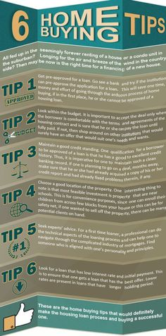 REAL ESTATE - 6 Tips for The Home Buying Process #RealEstateBuzz.