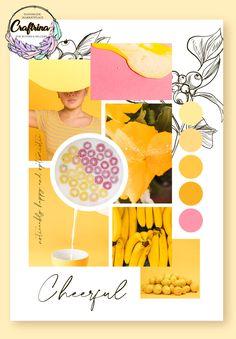 Feeling happy and optimistic. Find more handmade inspiration on Craftrina! Color Trends 2018, Wedding Album Design, Fashion Themes, Colour Pallette, Blog Design, Color Inspiration, Creative, Fashion Mood Boards, Volcano Lightning