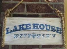 LAKE HOUSE hand painted wood sign coordinates by SeaSideSandys