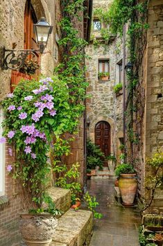 What a great photo Sweet alley in Tuscany Tour Italy Wall. - What a great photo Sweet alley in Tuscany Tour Italy wanderlust - Beautiful World, Beautiful Places, Amazing Places, Italy Landscape, Sky Landscape, Photos Voyages, Tuscany Italy, Venice Italy, Sorrento Italy