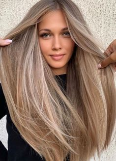 Gorgeous Hair Color, Cool Hair Color, Beige Hair Color, Hair Color Ideas, Level 7 Hair Color, Perfect Hair Color, Cute Hair Colors, At Home Hair Color, Hair Colours