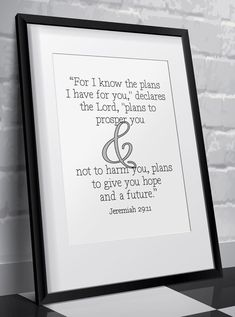 For I know the plans I have for you, declares the Lord, plans to prosper you and not to harm you, plans to give you hope and a future - #printableverses