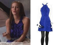 blair blue ruffle dress