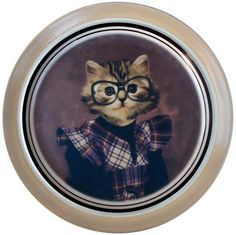 Altered Antique Ceramic Plate X Tara Kitten