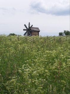 windmill on Kizhi Island Karelia Russia