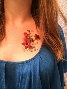 2 Vintage Flower Temporary Tattoos- SmashTat- Mothers Day