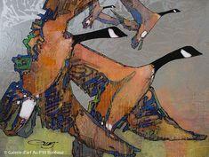 Jean-Pierre Guay, 'Couples d'ailes', 30'' x 40'' | Galerie d'art - Au P'tit Bonheur - Art Gallery
