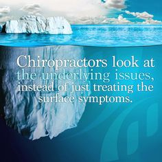 Chiropractors look at the underlying issues, not just symptoms     www.treeoflifewellness.com.au    Glenelg, SA