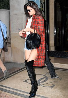 Kendall Jenner Channels Her Inner Bad Girl in a Totally '90s Grunge Outfit from InStyle.com