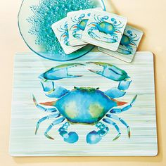 Blue Crab Coasters and Placemats