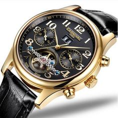 20434d91081 Carnival tourbillon automatic mechanical men watch fashion waterproof full  steel genuine leather strap Men s Watches