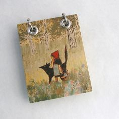 Refillable Recycled Notepad  Small Little Red Riding Hood,by Rags + Bones, $9.00