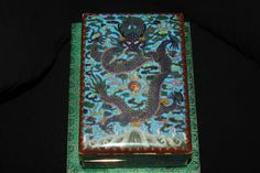 Rare beautiful chinese cloisonne dragon box