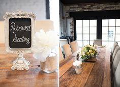 Head Table, wedding reception, Virtue Feed & Grain, rustic decor, vintage