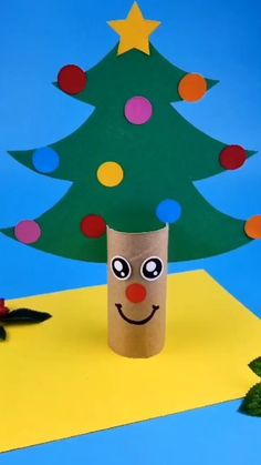 Please Subscribe My YouTube channel & help me to grow link in Bio Toilet Paper Roll Crafts, Paper Crafts For Kids, Diy Home Crafts, Diy For Kids, Christmas Paper Crafts, Diy Christmas Tree, Christmas Decorations, Ema, Ideas For Christmas