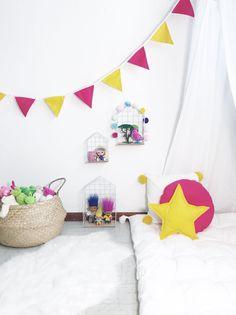 Une guirlande de fanions pour une chambre festive et rigolote !
