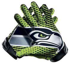 Seattle Seahawks Nike Vapor Jet 2.0 NFL Football Gloves Size Medium