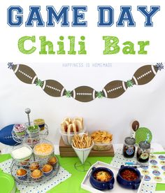 Super Bowl Game Day Chili Bar with supplies from @Sharpie and @Rubbermaid #RubbermaidSharpie #Pmedia #ad - Happiness is Homemade
