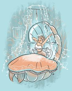 I'm just assuming mermaids wake up like movie stars ✨ also, congratulations to everyone who's made it this far! Mermaid Drawings, Mermaid Art, Art Drawings, Real Mermaids, Mermaids And Mermen, Illustrations, Illustration Art, Character Art, Character Design