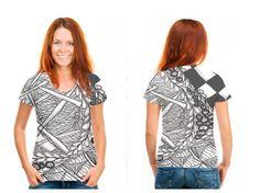Line Tangle artist created shirt.