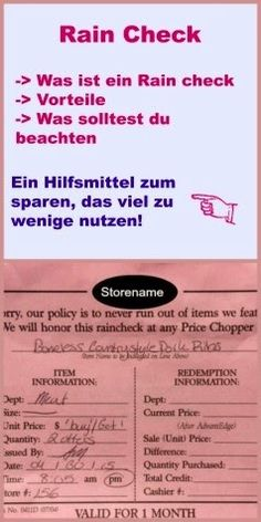 USA billig aber gut leben: Rain Check - Das Angebot ist ausverkauft, kein Problem Rain Checks sind unterschätzte Hilfsmittel zum sparen,  Was ist ein Rain Check? Vorteile eines Rain Checks. Was solltest du beachten?