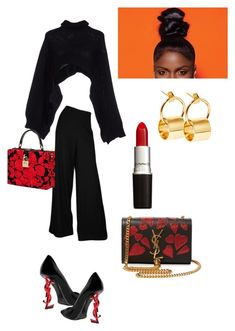 """""""I ❤️ those stylish clothes you wear"""" by brianna-gar ❤ liked on Polyvore featuring Charlott, Yves Saint Laurent, Dolce&Gabbana and Sarah & Sebastian"""