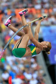 Karla Rosa da Silva of Brazil competes in the Women's Pole Vault qualification during Day Two of the 14th IAAF World Athletics Championships Moscow 2013 at Luzhniki Stadium on August 11, 2013 in Moscow, Russia.