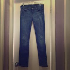 "7 for all man kind  skinny blue jeans Inseam is 30"" 7 for all Mankind Jeans Skinny"