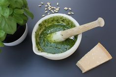 Homemade pesto - so much better than store bought and so easy to make. http://www.abasiccook.com/?space-recipes=pesto