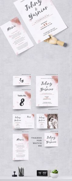 Wedding Invitation | Template, Font logo and Fonts