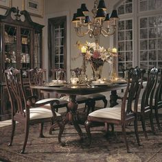 The 45th Anniversary Cherry Grove Collection is a blending of new and old adaptations from 18th century and higher end traditional styling. Georgian, Edwardian, Sheraton along with Queen Anne elements create this beautiful assortment of furniture. Cathedral cherry veneers, alder solids and select...