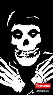 The Misfits X Supreme Wallpapers Ahoodieahoodie Rock Posters, Band Posters, Misfits Wallpaper, Misfits Tattoo, Misfits Band, Punk Tattoo, Tattoos, Danzig Misfits, Arte Punk