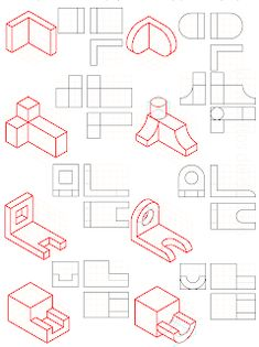 Isometric Drawing Exercises, Autocad Isometric Drawing, Architecture Drawing Art, Architecture Diagrams, Architecture Portfolio, Orthographic Drawing, Perspective Drawing Lessons, Certificate Design Template, Interesting Drawings