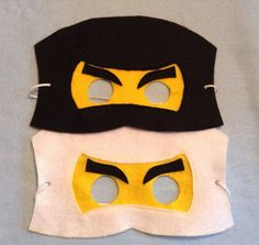 Ninjago / Ninja/ Lego mask. Felt Mask. set of 18 by miriamsolano