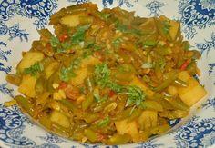 Indiase Kerrie Sperziebonen Met Aardappelen En Tomaat recept | Smulweb.nl