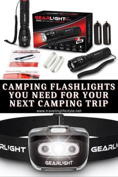 We have 8 awesome camping flashlights you need for your next camping trip. There are several factors to consider when choosing a flashlight for your next camping trip. The variety of choices available on the market make the choice more difficult than simply grabbing a flashlight from the shelf. #flashlights #campingflashlights Backpacking For Beginners, Backpacking Gear, Camping Hacks, Camping Gear, Best Travel Gadgets, Camping Flashlights, Led Camping Lantern, Camping Blanket, Best Places To Travel