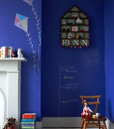 What child wouldn't want a giant chalkboard in their bedroom? This specialist chalkboard paint from Ecos Organic Paints is available in 180 colours, including Pacific Heights Best Chalkboard Paint, Blackboard Paint, Chalk Paint, Specialist Paint, Woman Bedroom, Kids Bedroom, Bedroom Ideas, Interior Decorating, Interior Design