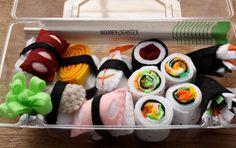 Children's Play Felt Food - Sushi. $16.50, via Etsy.