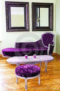 Purple furniture by Baloncici, via Dreamstime