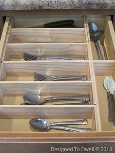 Silverware storage on pinterest sterling silver flatware for Creative silverware storage