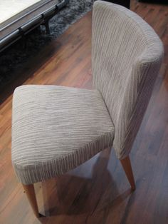 Our beautifully designed dining chair / bedroom chair.  As always, any fabric, plus a good choice of wood colours.