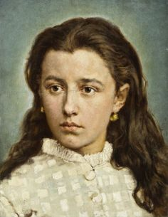 """""""Portrait of Maria Levittoux"""" (1872) by Jan Matejko (Polish;1836 -1893),oil on canvas; National Museum, Warsaw."""