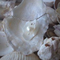 collier et Pendentif perle et huître argenté