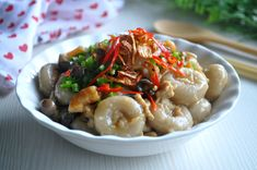 Yam Abacus 芋头算盘子 - Eat What Tonight Fried Shallots, Singapore Food, Chicken Seasoning, Yams, Chinese Food, Thanksgiving Recipes, A Food, Food Processor Recipes, Stuffed Mushrooms