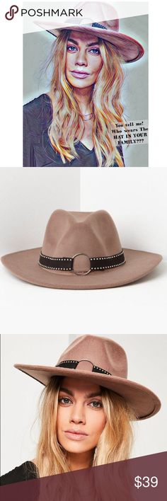🆕 💞 Who? Wears the Hat (Best) In your Opinion? 🆕💞Look fierce in this brown studded fedora - and enjoy the compliments. This will definitely get the attention your looking for & every REAL WOMAN deserves! Strut your stuff in this beautiful Fedor from Missguided UK! Hat Body Material: 100%polyester/Band: 80% polyester 20% iron/Color: Brown w Black silver studs & decoration/OS/ do not wash! Questions please message first before purchase to avoid any unnecessary problems! No Returnd/Refunds…