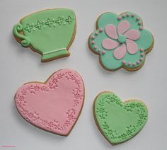 Teacup, Hearts & Flower Cookies with Fondant Fondant Cookies, Tea Cookies, Flower Cookies, Sugar Cookies, Christmas Tea Party, Christmas Cookies, Cake Blog, Fondant Decorations, Flower Tea