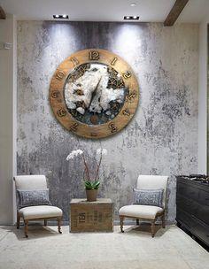 Zegar XVI, duży zegar ścienny z wahadłem, projekt salonu, loft design. Wnętrza prowansalskie, nowoczesne, klasyczne, salon, hol, jadalnia, projekt domu